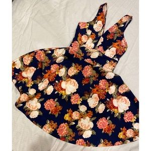 Forever 21• Floral Dress with Plunging Neckline